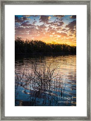 Quanah Parker Lake Sunrise Framed Print by Inge Johnsson