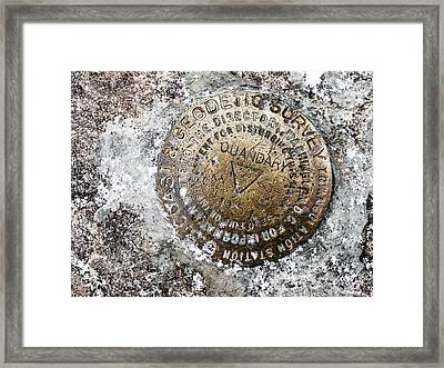 Quandary Survey Marker Framed Print by Aaron Spong