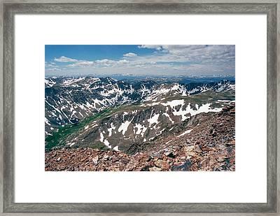 Quandry Peak 14264 Framed Print by Robert VanDerWal