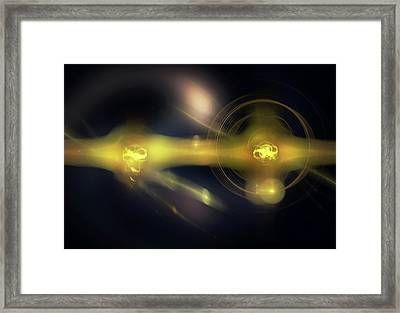 Quantum Computing Framed Print by Equinox Graphics