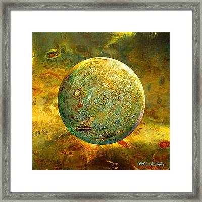 Quantum Soul...orb Of Light Framed Print by Robin Moline