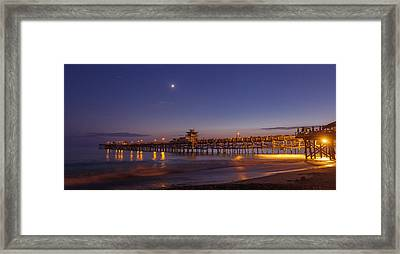 Quarter The Moon Framed Print by Scott Campbell