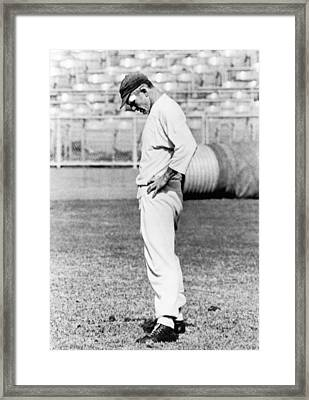 Quarterback Y. A. Tittle Framed Print by Underwood Archives
