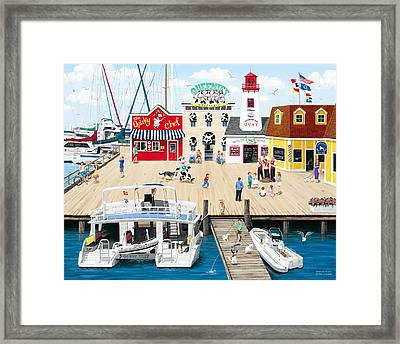 Quartet At The Quay Framed Print by Wilfrido Limvalencia