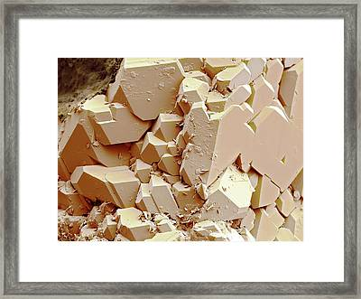 Quartz Crystals Framed Print by Science Photo Library