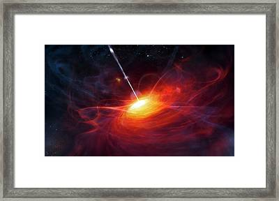 Quasar Framed Print by Eso/m. Kornmesser