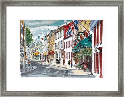 Quebec Old City Canada Framed Print by Anthony Butera