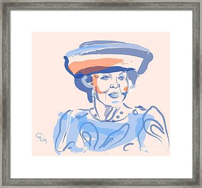 Queen Beatrix Framed Print by Go Van Kampen