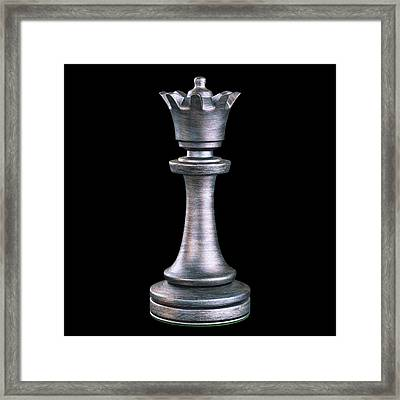 Queen Chess Piece Framed Print by Ktsdesign