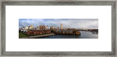 Queen City Skyline Framed Print by Peter Chilelli