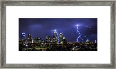 Queen City Strike Framed Print by Chris Austin