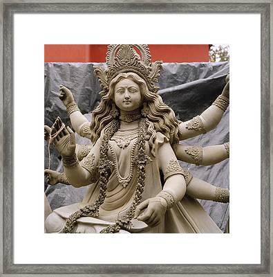 Queen Durga Framed Print by Shaun Higson