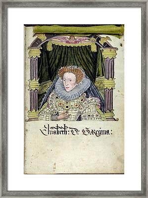 Queen Elizabeth I Framed Print by British Library