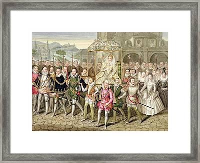 Queen Elizabeth I In Procession Framed Print by Sarah Countess of Essex