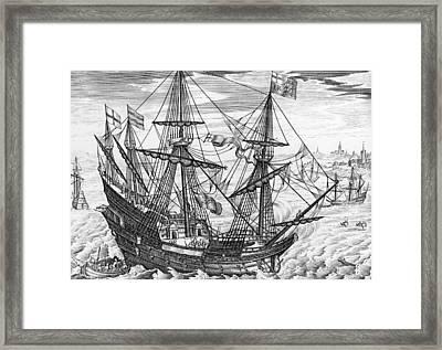 Queen Elizabeth S Galleon Framed Print by English School