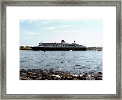 Queen Mary 2 Halifax 2004 Framed Print by George Cousins