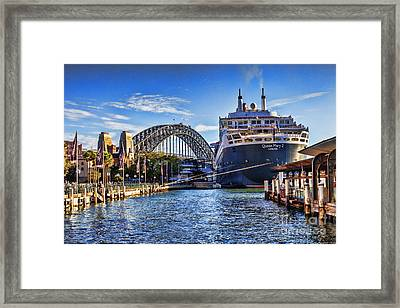 Queen Mary 2 Sydney Framed Print by Colin and Linda McKie