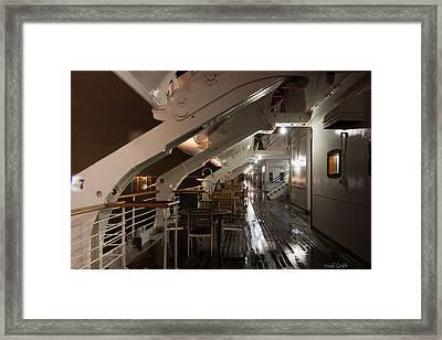Queen Mary Sun Deck Framed Print by Heidi Smith