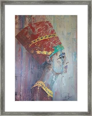 Queen Nefertiti Framed Print by John Henne