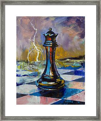 Queen Of Chess Framed Print by Michael Creese