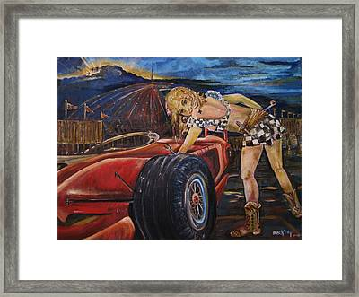 Queen Of Clubs Framed Print by Beverly Kemp