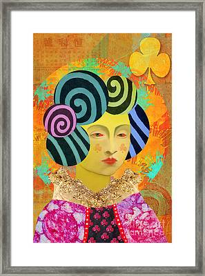 Queen Of Clubs Custom Order Framed Print by Elena Nosyreva