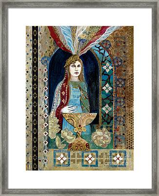 Queen Of Cups Framed Print by Diane Soule