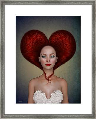 Queen Of Hearts Framed Print by Britta Glodde