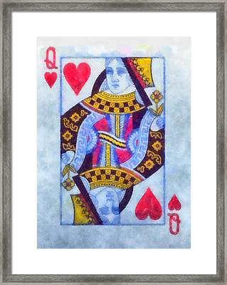 Queen Of Hearts Framed Print by Dan Sproul