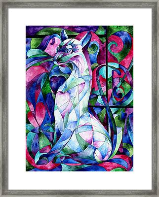 Queen Of Hearts Framed Print by Sherry Shipley