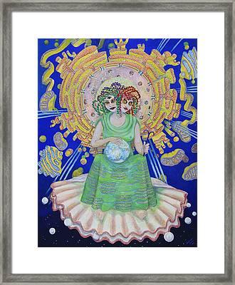 Queen Of Membranes 2 Framed Print by Shoshanah Dubiner