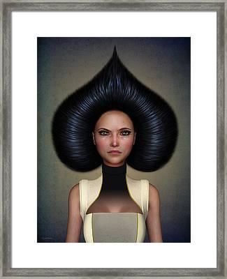 Queen Of Spades Framed Print by Britta Glodde