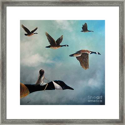 Queen Of The Canada Geese By Shawna Erback Framed Print by Shawna Erback