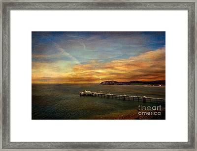 Queen Of The Welsh Resorts Framed Print by Adrian Evans