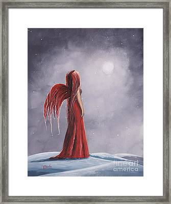 Queen Of The Winter Nights By Shawna Erback Framed Print by Shawna Erback