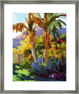 Queen Palms Framed Print by Diane McClary