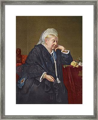 Queen Victoria 1819-1901 1899 Oil On Canvas Framed Print by English School