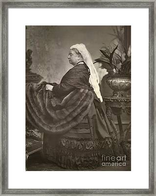 Queen Victoria, British Monarch Framed Print by British Library