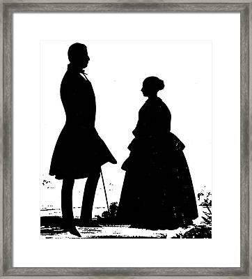 Queen Victoria Silhouette Framed Print by Granger