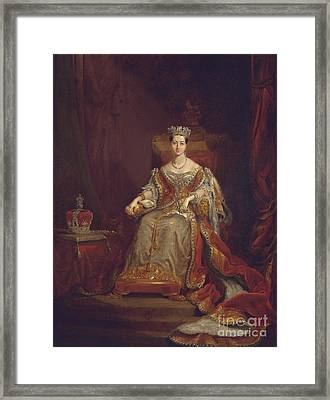 Queen Victoria Framed Print by Sir George Hayter