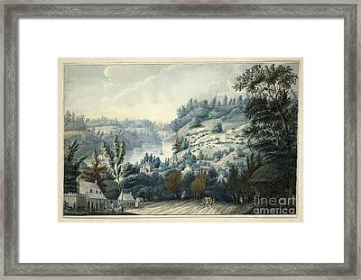 Queenstown Upper Canada On The Niagara  Framed Print by Celestial Images