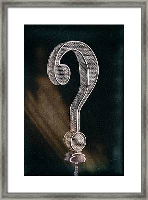 Question Mark Framed Print by Tom Mc Nemar