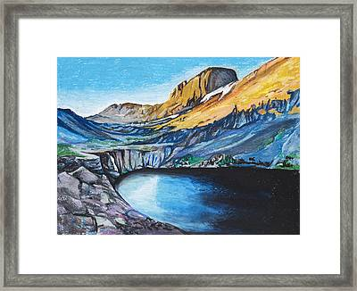 Quick Sketch - Kit Carson Peak Framed Print by Aaron Spong