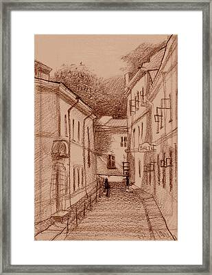 Quick Sketch Framed Print by Serge Yudin