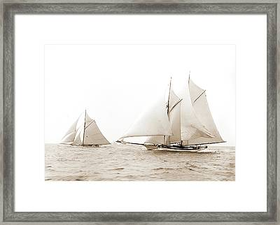 Quickstep And Gloriana, August 6, 1892, Quickstep Schooner Framed Print by Litz Collection