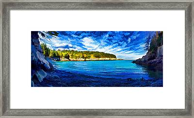 Quiet Cove At Cutler Framed Print by Bill Caldwell -        ABeautifulSky Photography