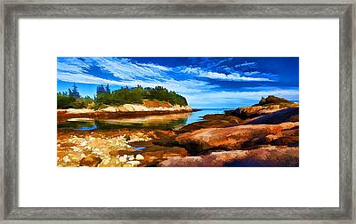 Quiet Cove At Great Wass Framed Print by Bill Caldwell -        ABeautifulSky Photography