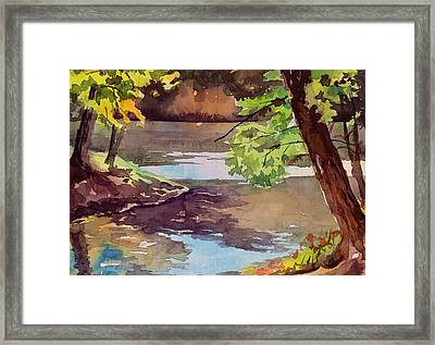 Quiet Cove Framed Print by Spencer Meagher