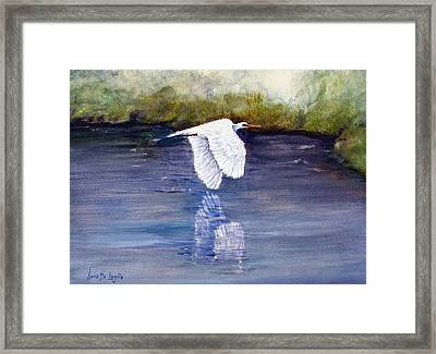 Quiet Flight Framed Print by Loretta Luglio