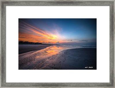 Quiet For Now Framed Print by Walt  Baker